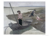 The Poor Fisherman Premium Giclee Print by Pierre Puvis de Chavannes