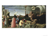 Story of Saint Luke Predella Triptych Giclee Print by  Fra Angelico