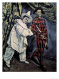 Pierrot and Harlequin Giclee Print by Paul Cézanne