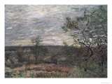 Windy Day in Vienna Giclee Print by Alfred Sisley