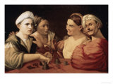 The Magicians Giclée-tryk af Dosso Dossi