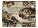 Creation of Adam Giclee Print by  Michelangelo Buonarroti