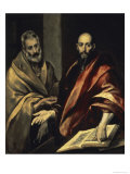 The Apostles St. Peter and St. Paul Lámina giclée por  El Greco