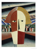 Peasant's Head, c.1928-1932 Giclee Print by Kasimir Malevich