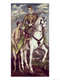 Saint Martin and the Beggar Giclee Print by  El Greco