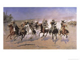 Dash For the Timber Premium Giclee Print by Frederic Sackrider Remington
