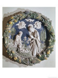 Madonna and Child in Wreath of Fruits Giclee Print by Andrea Della Robbia