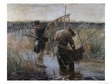 Fishermen Giclee Print by Leon Wyczolkowski