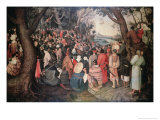 Preaching of Saint John the Baptist Giclee Print by Pieter Bruegel the Elder