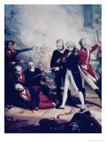 Nelson Receiving the Surrender of the San Nicolas, February 14,1797 Premium Giclee Print by Richard Westall
