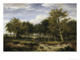 Wooded Landscape Near Surrey Giclee Print by Benjamin Williams Leader