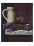 Mug, Pipe and Book Giclee Print by John Frederick Peto