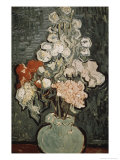 Still Life: Vase with Rose, Mallows Giclee Print by Vincent van Gogh