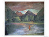 Afterglow, Tautira River, Tahiti Giclee Print by John La Farge