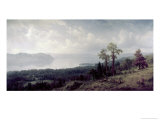 View of the Hudson Looking Across the Tappanzee Giclee Print by Albert Bierstadt