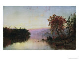 Greenwood Lake at Twilight Premium Giclee Print by Jasper Francis Cropsey