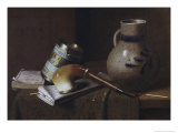 Still Life with Three Castles Tobacco, no.2 Premium Giclee Print by William Michael Harnett