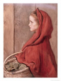 Red Riding Hood Giclee Print by John Everett Millais