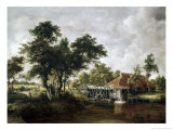 The Watermill with the Great Red Roof Giclee Print by Meindert Hobbema
