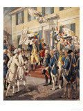 Washington Visiting Rochambeau at French Embassy Giclee Print by H.a. Ogden