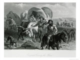 Emigrants Crossing the Plains Giclee Print by Felix Octavius Carr Darley