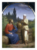 Christ and the Woman of Samaria Giclee Print by Anton Laurids Johannes Dorph