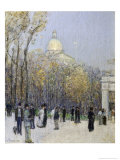Boston Commons, c.1901 Premium Giclee Print by Childe Hassam