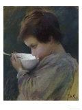 Child Drinking Giclee Print by Mary Cassatt