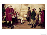 The Boston Boys Protest to General Thomas Gage Giclee Print by Frederick Coffay Yohn