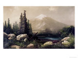 Mount Shasta, California Giclee Print by Thomas Hill