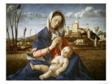 Madonna of the Meadow Giclee Print by Giovanni Bellini