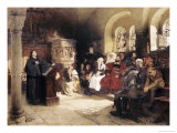 Martin Luther Preaches in Wartburg Giclee Print by Hugo Vogel