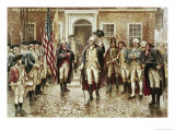 Washington's Farewell to His Officers Giclee Print by Edward Moran