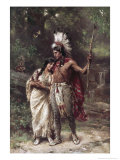 Hiawatha&#39;s Wedding Journey Reproduction proc&#233;d&#233; gicl&#233;e par Jean Leon Gerome Ferris