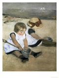 Children on the Beach Giclee Print by Mary Cassatt