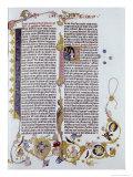 Gutenberg Bible Giclee Print by  Johann Gutenberg