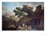 Paysage Marine Blanchisseuses Giclee Print by Claude Joseph Vernet