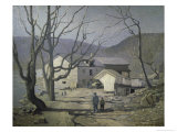 The Stone Mill in Bucks County, c.1909 Premium Giclee Print by Robert Spencer