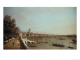 London from Somerset House Giclee Print by  Canaletto