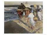 Taking Out the Boat Giclee Print by Joaquín Sorolla y Bastida