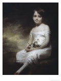Young Girl with Flowers Giclee Print by H. Macbeth Raeburn