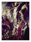 Christ on the Cross Between the Two Thieves Giclee Print by Peter Paul Rubens