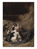 Kittens in the Hay Giclee Print by Julius Adam