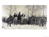 Washington Reviewing His Troops at Valley Forge Giclee Print by W. T. Trego
