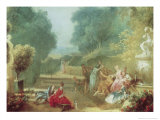 Game of Hot Cockles Giclee Print by Jean-Honoré Fragonard