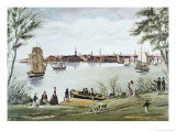 Scene of the East River in New York Shortly after Independence Giclee Print by George Torina