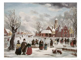 Winter Life in Holland Reproduction proc&#233;d&#233; gicl&#233;e par J. Van Der Bowlen