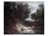 The Watering Place Giclee-trykk av Gainsborough, Thomas