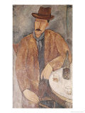 Man with a Wine Glass Premium Giclee Print by Amedeo Modigliani