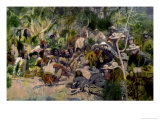 Crook&#39;s Conference with Geronimo Giclee Print by William F. Kline